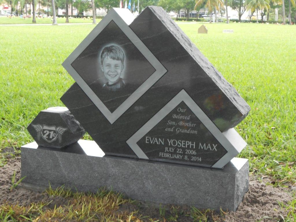 Max Personalized Upright Headstone