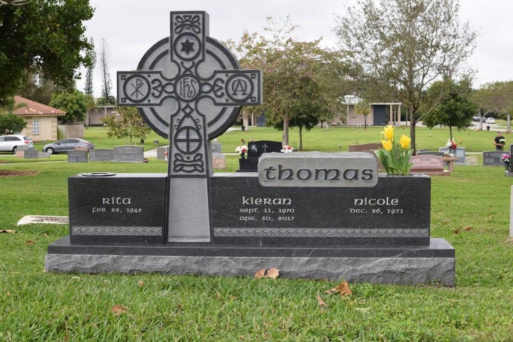 Thomas Family Cross Upright Monument