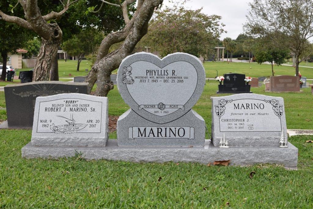 Marino Family Upright Memorial
