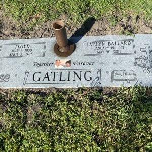 Gatling Faithful Flat Headstone
