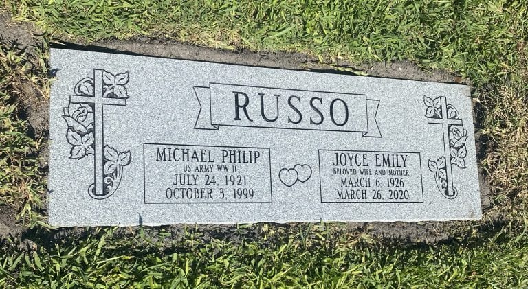 Russo Beloved Flat Gravestone