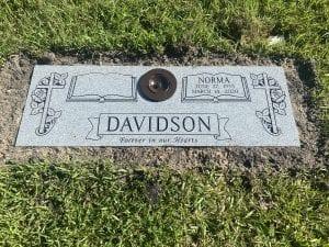 Davidson Book Flat Gravestone
