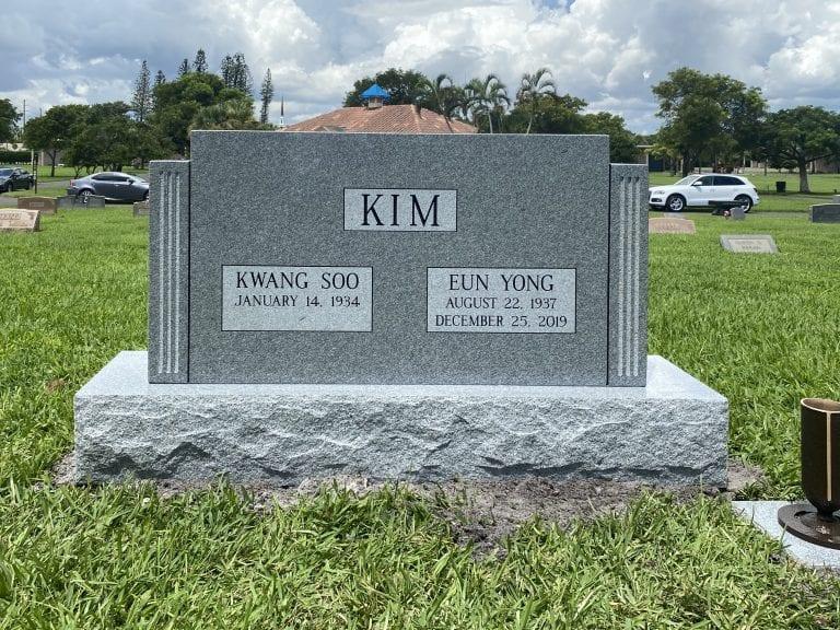 Kim Traditional Upright Memorial