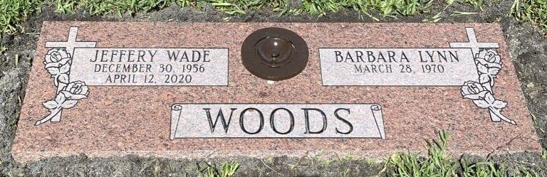 Woods Faithful Flat Headstone