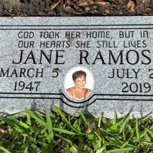 Ramos Photo Flat Headstone