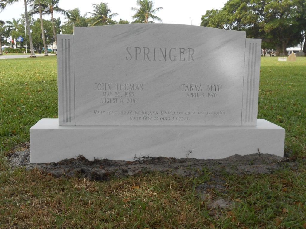 Springer Traditional Upright Monument