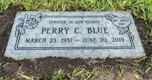Blue Traditional Flat Memorial