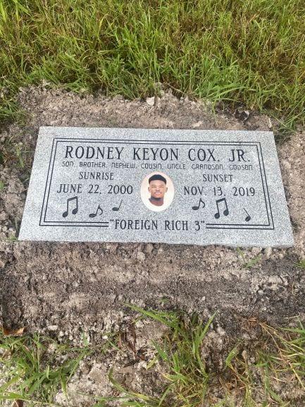 Cox Personalized Flat Headstone