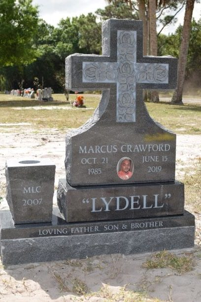 Crawford Cross Upright Monument