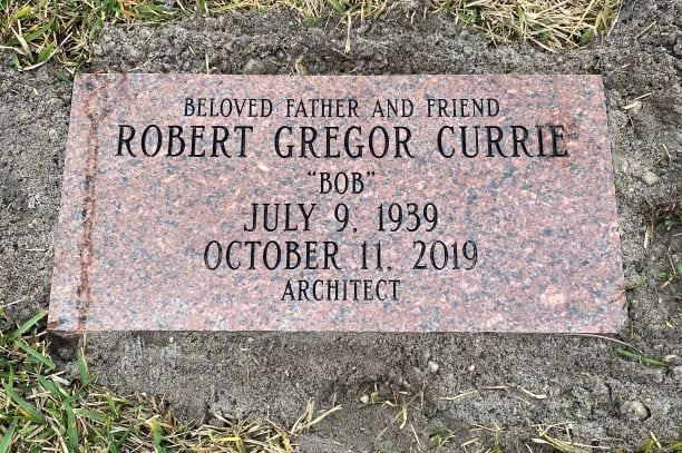 Currie Traditional Flat Gravestone