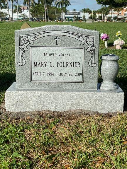 Fournier Bordered Upright Monument