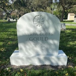 Gould Floral Upright Memorial