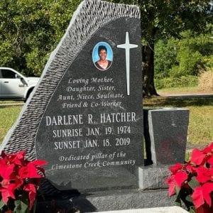 Hatcher Faithful Upright Headstone