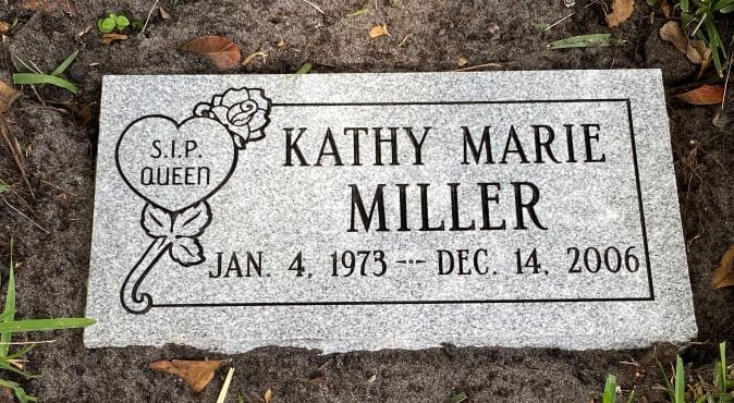 Miller Floral Flat Headstone