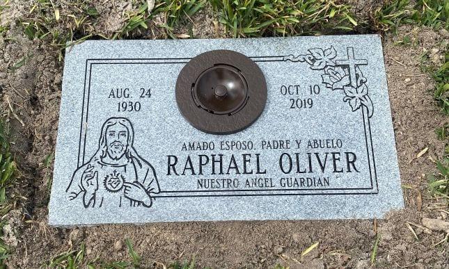 Oliver Faithful Flat Headstone