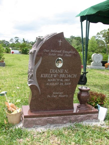 Broach Lily Upright Monument