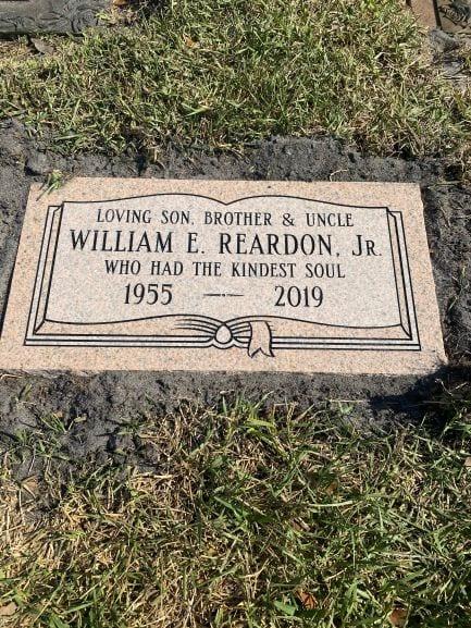 Reardon Book Flat Gravestone