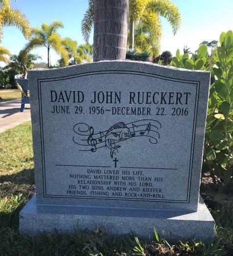 Rueckert Music Upright Gravestone