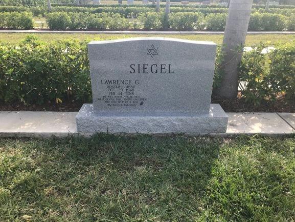 Siegel Companion Upright Headstone