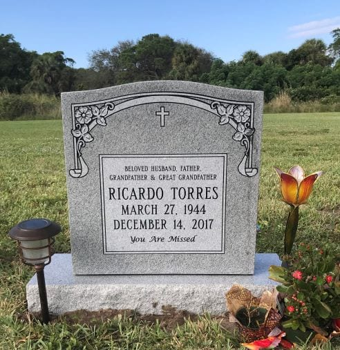 Torres Traditional Upright Gravestone