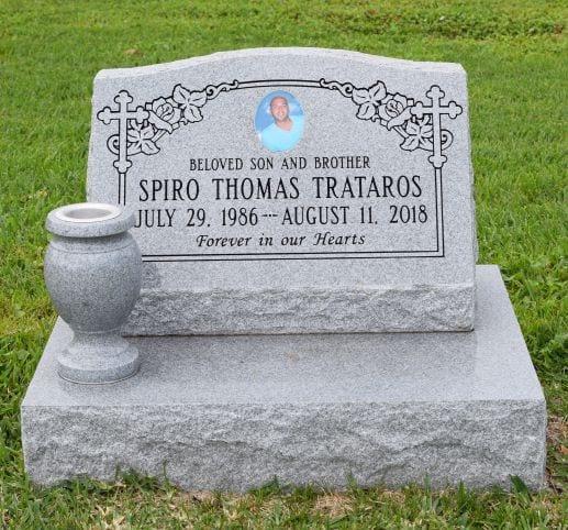 Trataros Traditional Upright Headstone